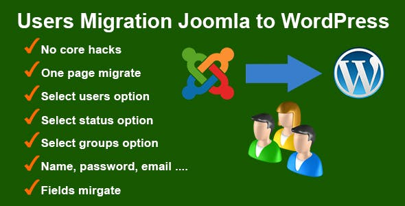 Users Migration Joomla to WordPress