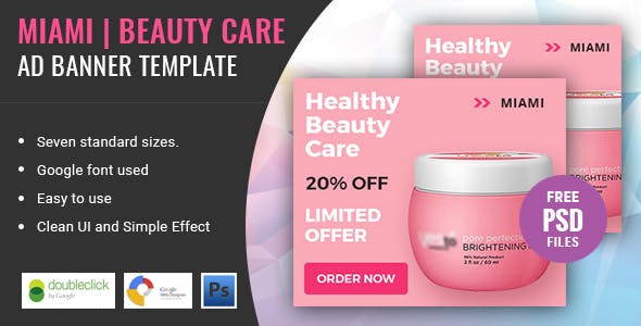 Miami Beauty Care | HTML 5 Animated Google Banner