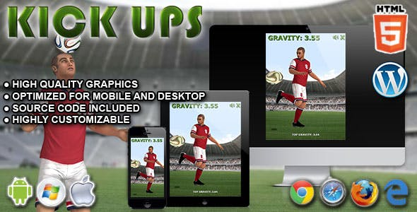 Kickups - HTML5 Game