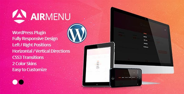 AirMenu - Responsive Fullscreen Navigation WordPress Plugin