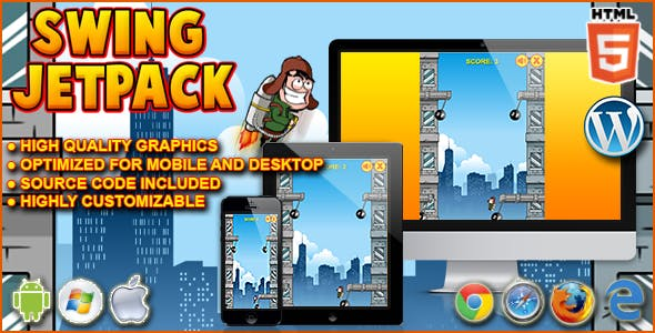 Swing Jetpack - HTML5 Game