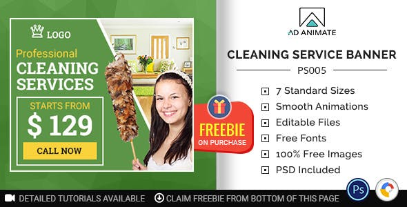 Professional Services | Cleaning Service Banner (PS005)