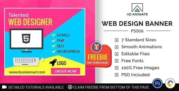 Professional Services   Web Design Banner (PS006)