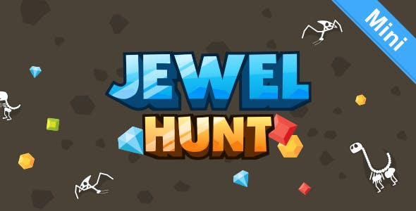 Jewel Hunt (Mini) - HTML5 Match 3 Game (Construct  2)