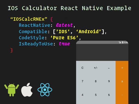 IOS Calculator React Native Example - CodeCanyon Item for Sale