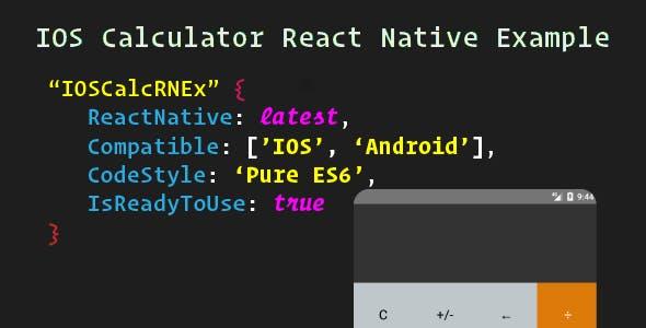IOS Calculator React Native Example
