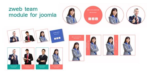 Zweb Team Module for Joomla - CodeCanyon Item for Sale
