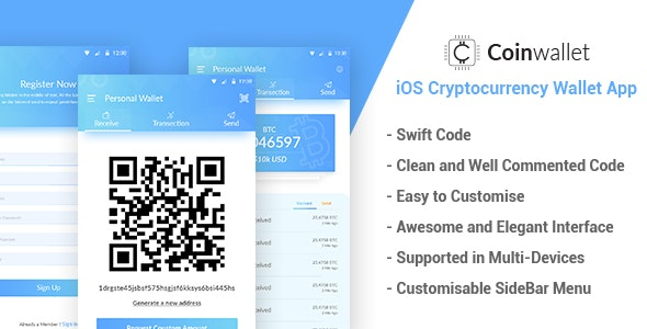 CoinWallet - iOS Cryptocurrency Wallet Template - CodeCanyon Item for Sale