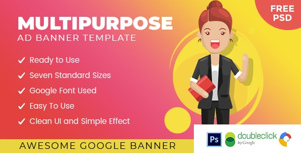 Armadow Multipurpose | HTML 5 Animated Google Banner - CodeCanyon Item for Sale