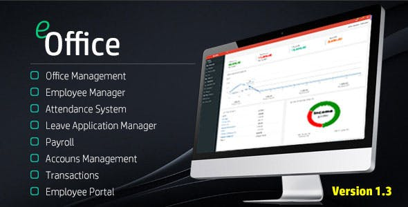 eOffice CRM - (Accounts, HRM, Inventory, Sales)