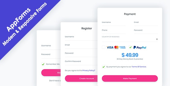 AppForms - Modern & Responsive Forms - CodeCanyon Item for Sale