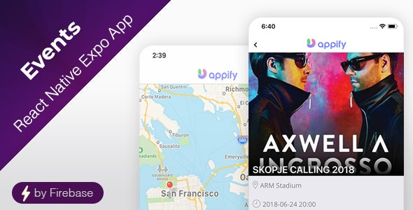 Events App - React Native Expo App - CodeCanyon Item for Sale