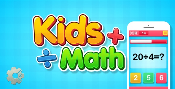 Kids Math - HTML5 Game (Construct 2) - CodeCanyon Item for Sale