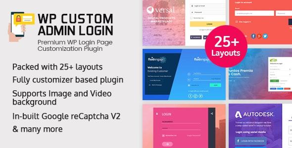 WP Custom Admin Login - WordPress Plugin to make a customized admin login page - CodeCanyon Item for Sale