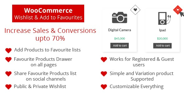 WooCommerce Wishlist and Add to Favorite - Increase Sales and Conversions