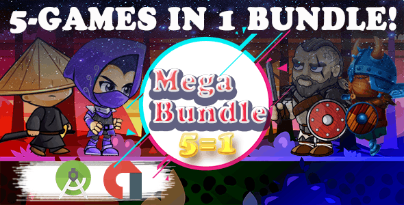 ANDROID- 5 GAMES  BUNDLE №7 (CAPX)