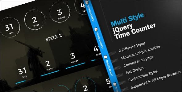 jCountDown - Multi Style jQuery Time Countdown