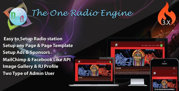 The One Radio Engine - CodeCanyon Item for Sale