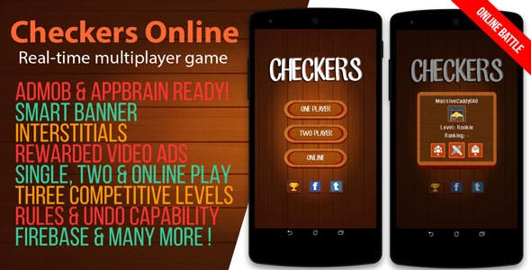 Checkers Online - Android Game