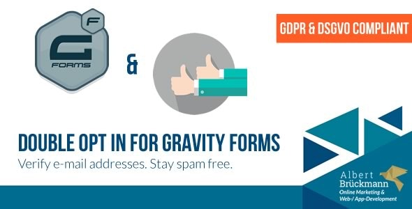 Double Opt in for Gravity Forms (GDPR & DSGVO compliant) - E-Mail Address Verification - CodeCanyon Item for Sale