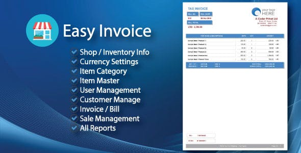 Easy Invoice | Invoice Management System & All Reports With Full Source Code