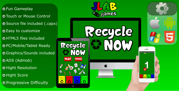 Recycle Now - CAPX (Mobile and HTML5)