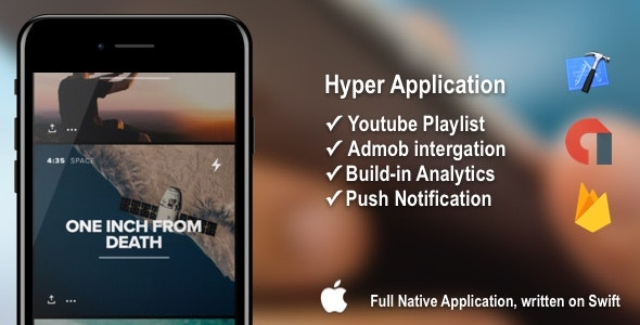 Hyper - Youtube Playlist Viewing Application + Admob - CodeCanyon Item for Sale
