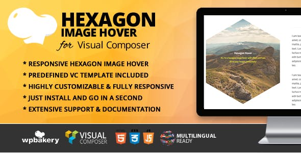 Hexagon Image Hover Addon for WPBakery Page Builder (formerly Visual Composer)