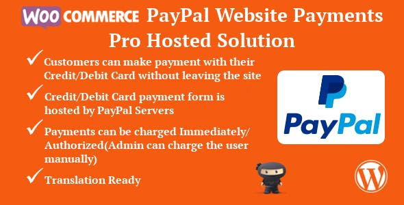 WooCommerce PayPal Website Payments Pro Hosted Solution