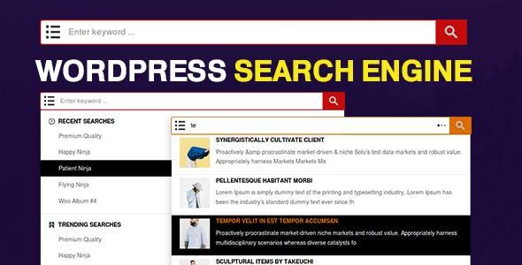 WP Search Engine - WordPress / WooCommerce / Custom Post Types