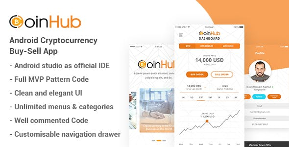 CoinHub - Android Cryptocurrency Buy Sell App