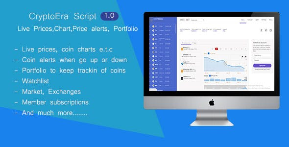 CryptoEra - Cryptocurrencies Live Prices, Charts, Trades, Calculator and more