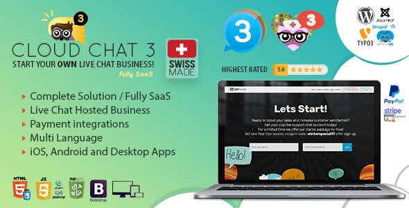 Fully SaaS Live Support Chat - Cloud Chat 3 - CodeCanyon Item for Sale