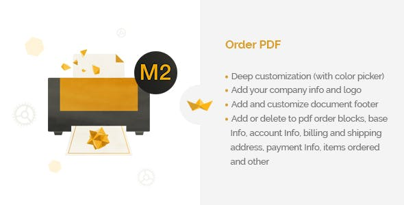 Order PDF for Magento 2