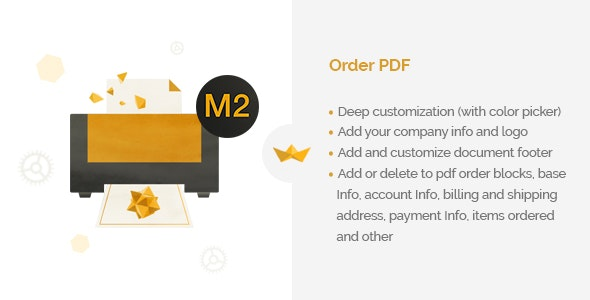 Order PDF for Magento 2 - CodeCanyon Item for Sale