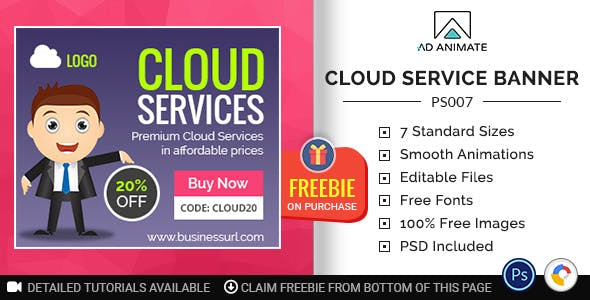 Professional Services | Cloud Service Banner (PS007)