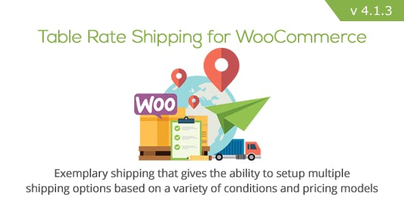 Table Rate Shipping for WooCommerce        Nulled