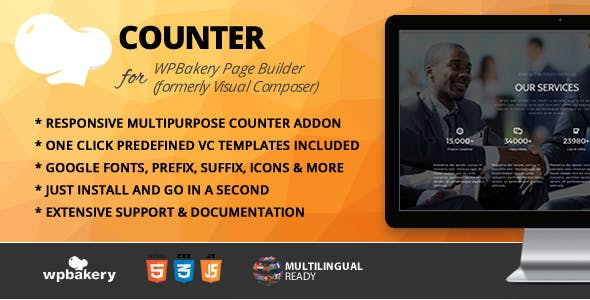 Counter Addon for WPBakery Page Builder (formerly Visual Composer)