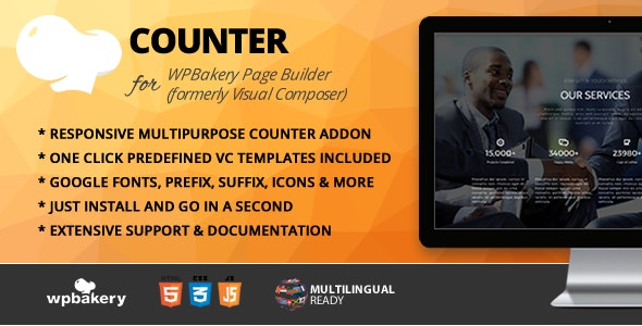 Counter Addon for WPBakery Page Builder (formerly Visual Composer) - CodeCanyon Item for Sale