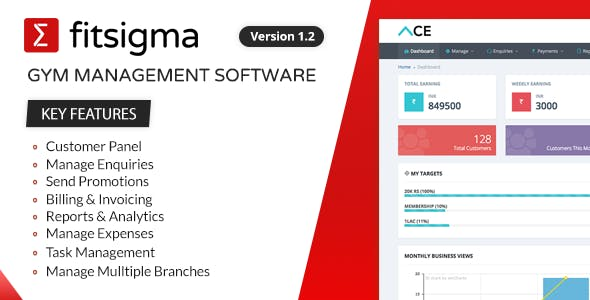 Fitsigma - Gym Management Software
