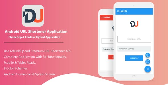 DroidURL - Android URL Shortener For AdLinkFly And Premium URL Shortener