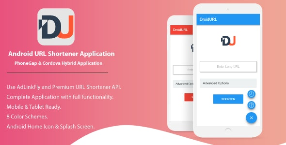 DroidURL - Android URL Shortener For AdLinkFly And Premium