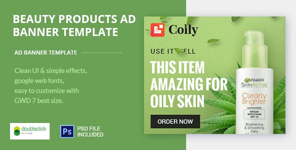 Online Beauty Care HTML Ad 03