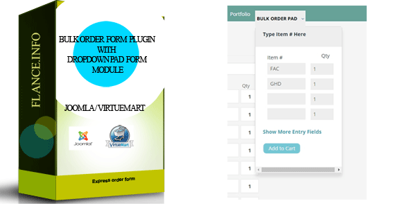 Bulk Order Form Plugin with Dropdown Pad Module - CodeCanyon Item for Sale