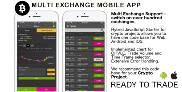 Multi Exchange Crypto App - JavaScript/Hybrid