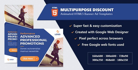 HTML5 Animated Banner Ads - Technology (GWD)