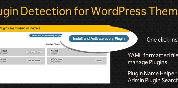 Plugin Detection for WordPress Themes - CodeCanyon Item for Sale