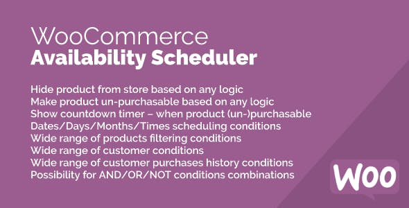 Availability Scheduler for WooCommerce
