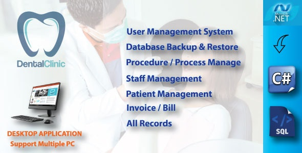 Dental Clinic Management System With Full Project & Source Code - CodeCanyon Item for Sale