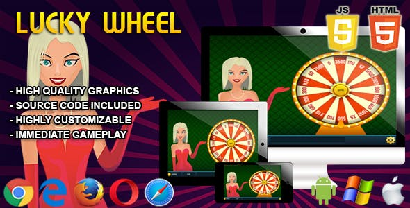Lucky Wheel - HTML5 Casino Game